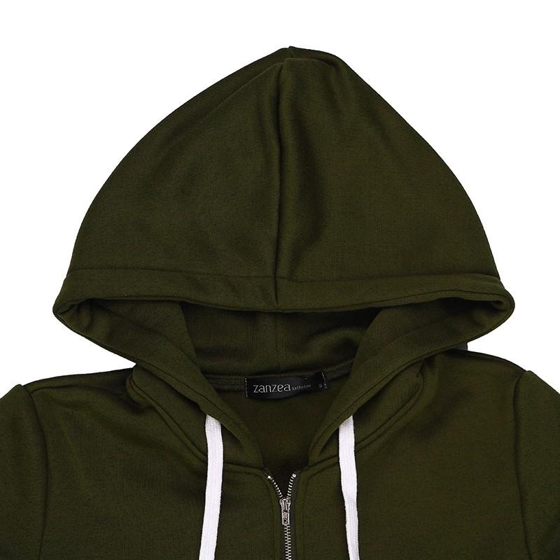 Oversized 2017 Autumn Women's Casual Long Hoodies Sweatshirt, Coat, Pockets, Zip Up, Outerwear Hooded Jacket 28