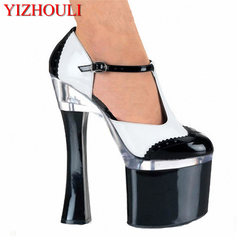 18 cm high documentary shoes Hate day high party with lighter shoes paint simulation skin clubs in Europe and America sexy democracy in america nce