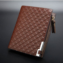 New Multifunction Man Wallets 3 Colors Mens PU Leather Zipper Business Wallet Card Holder Pocket Purse