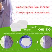 70Pcs 35Packs Non Woven Fabrics Invisible Armpit Absorb Sweat Antiperspirant Stick Underarm Sweat Antiperspirant Pads