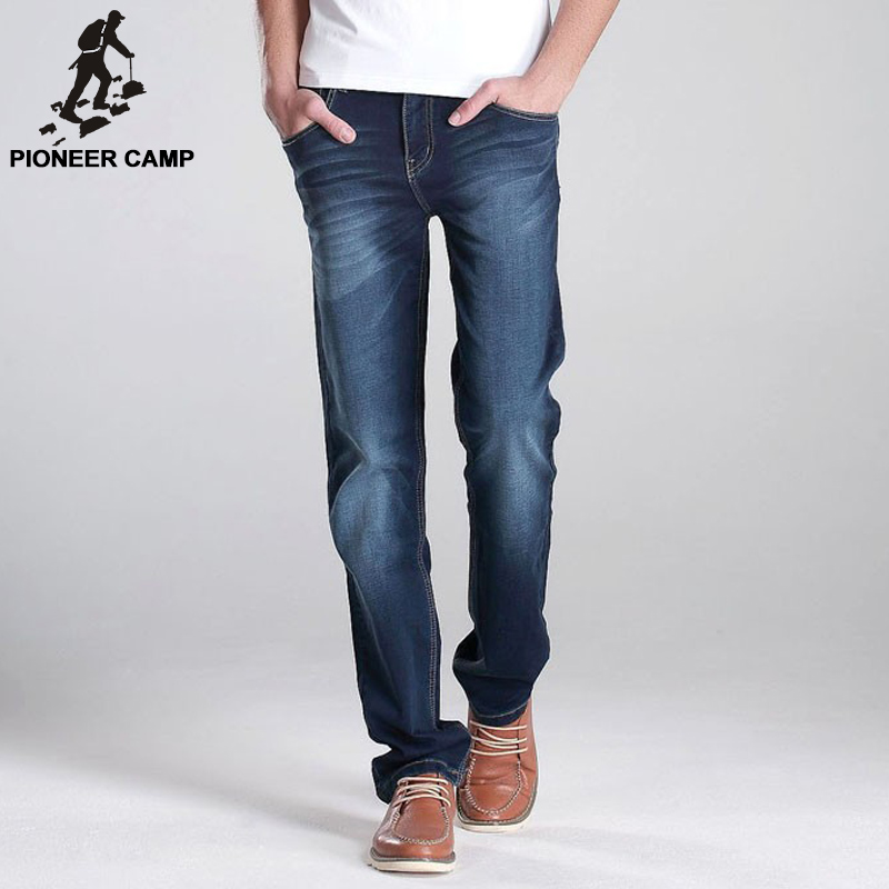 ФОТО Pioneer Camp 2017 new jeans pants men designer jeans casual pants elastic mid-rise straight men brand clothing tops trousers