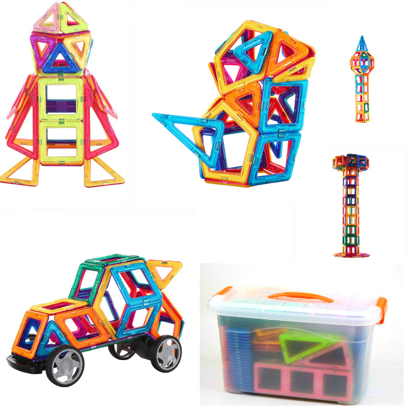 Chaude 113 pcs enfants ToyMagformers Magnétique 3D BRICOLAGE Jouets Éducatifs Magnétique Créateur Modèle Blocs de Construction Briques Pour Enfants Cadeaux