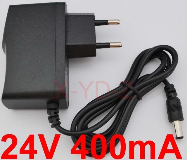 1 CÁI chất lượng Cao DC 24 V 400mA chương trình IC AC 100 V 240 V chuyển đổi Chuyển đổi power adapter Cung Cấp EU Cắm DC 5.5 mét x 2.1 2.5 mét
