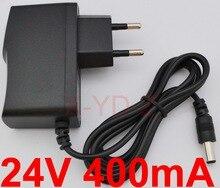 1ピース高品質dc 24ボルト400ma icプログラム交流100ボルトの240ボルトコンバータスイッチング電源アダプタ電源euプラグdc 5.5ミリメートルx 2.1〜2.5ミリメートル