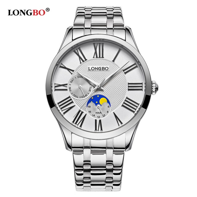 LONGBO Quartz Watch lovers Watches Women Men Couple Analog Watches Leather Wrist