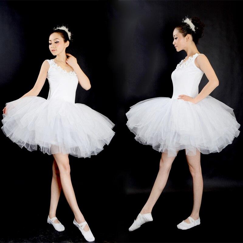 New Professional Gymnastics Ballet Tutu Dress Swan Lake Adult Prom Party Costume Sling White  Ballet Dress Tutu Woman Dancewear