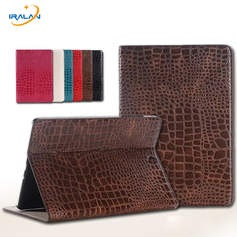 Crocodile Pattern PU Leather Case Cover For Samsung Galaxy Tab S2 9.7 T810 T815 High Quality Luxury Tablet shell+Stylus pen+Film