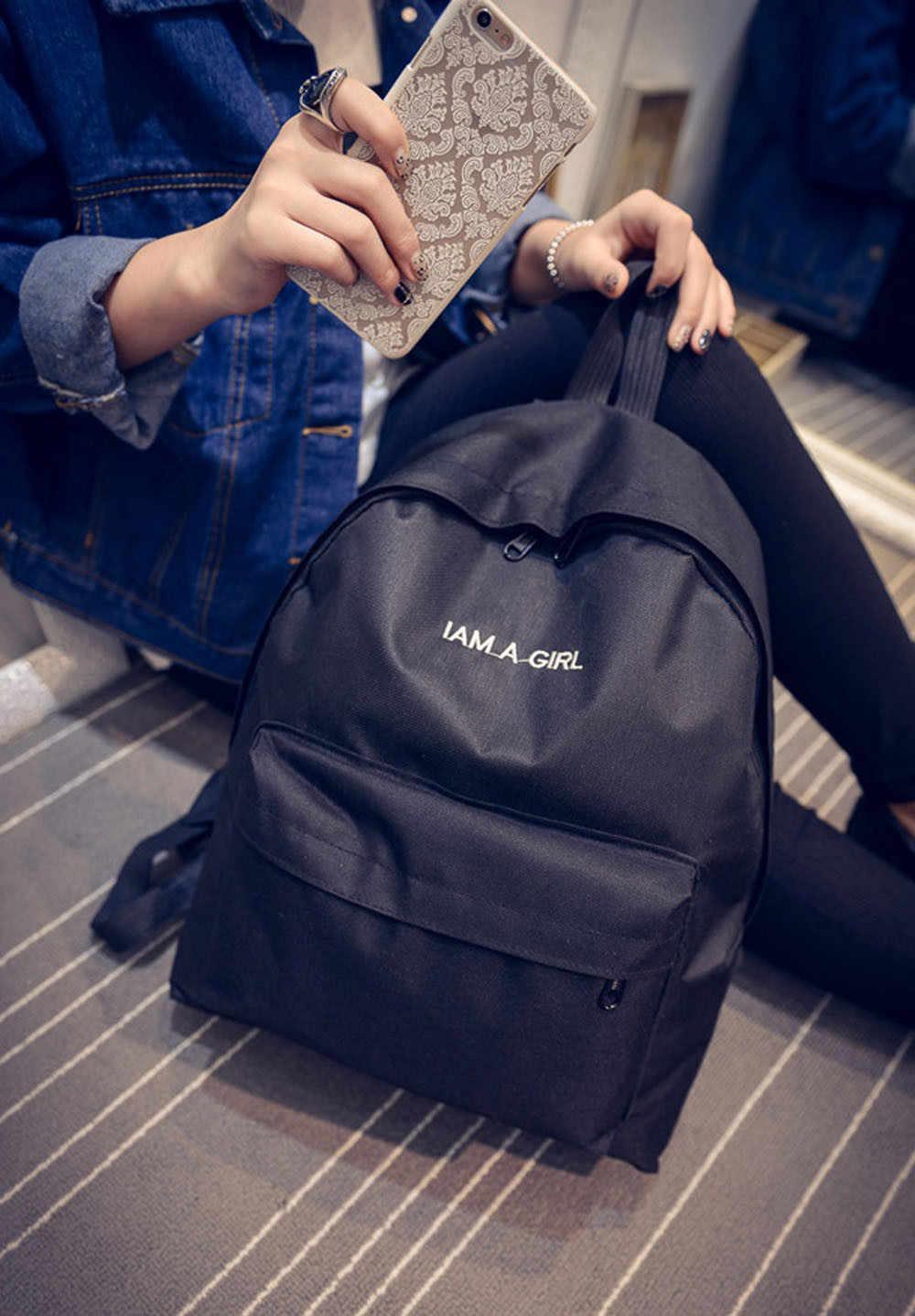 Mochilas Escolares mochila para Adolescentes Meninos Meninas Mochila Canvas Escola Mochila Bagpack Viagem Grande Capacidade Mochila #5 $