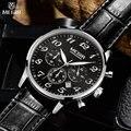 MEGIR luxury military chronograph quartz watch men fashion casual analog digital watch leather wristwatch waterproof MG2022