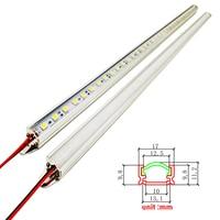 LED Hard luces Strip Bar Licht Aluminium profiel 1 meter 5730 8520 2835 5050 4014 chip DC12V met pc cover kast keuken