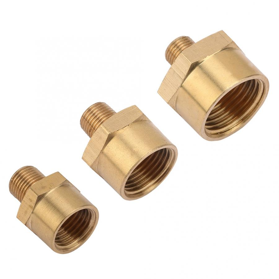 Brass Pipe Fitting Connector Adapter <font><b>BSPP</b></font> Pipe Fitting Male to <font><b>BSPP</b></font> Female <font><b>1/4</b></font> BSPT Male to 3/8 NPT Female image