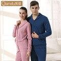 2016 nueva moda modal manga larga pijamas pareja hombre puede llevar a cabo de punto de algodón chándal qianxiu 1501