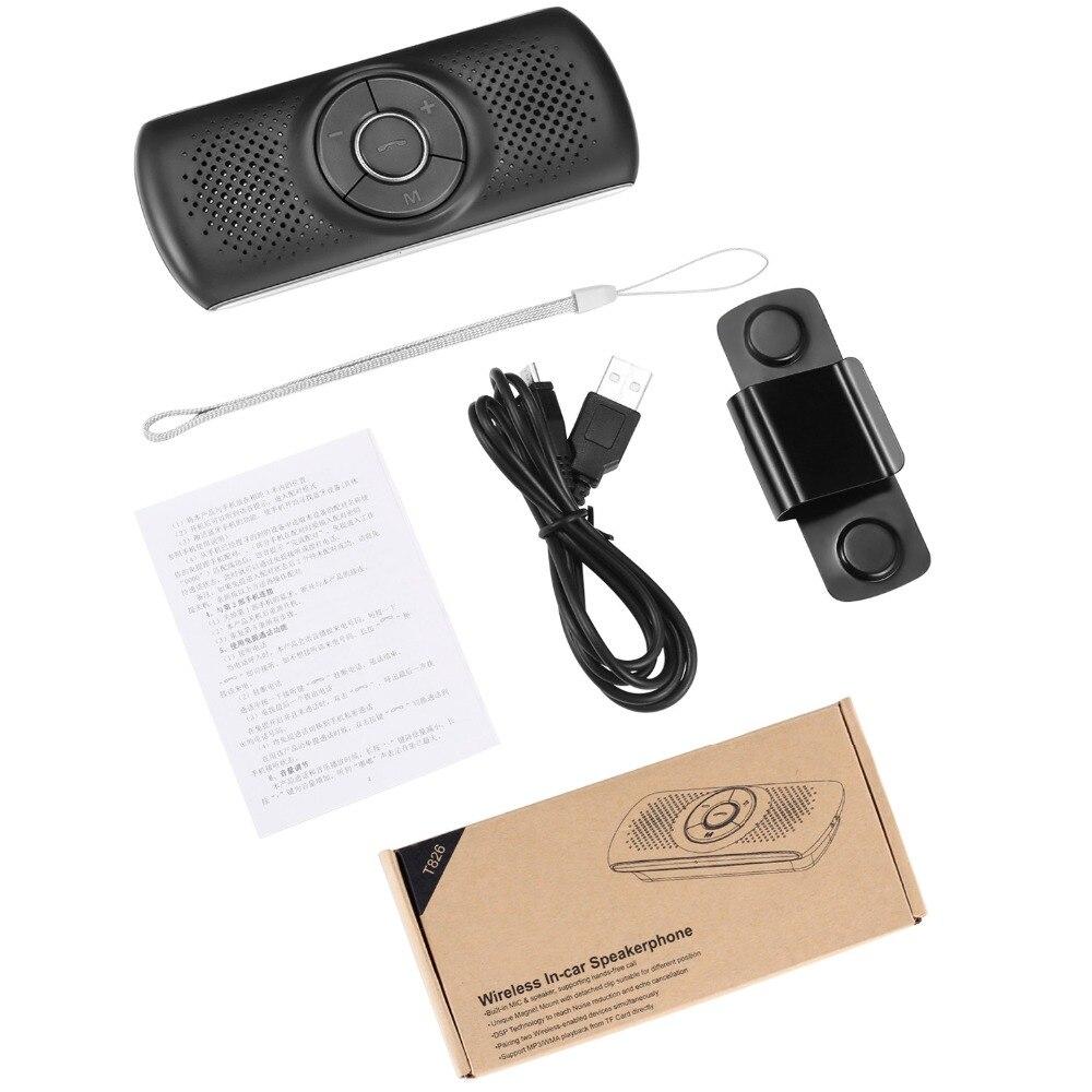 ANLUD Handsfree Bluetooth Car Kit Wireless Bluetooth Speaker Phone EDR MP3 Music Player Sun Visor Clip Speakerphone (9)