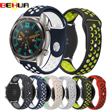 New Silicone Breathable Sports Band For HUAWEI WATCH GT 22MM Strap Samsung Gear S3 Bracelet Belt Replacement Watch