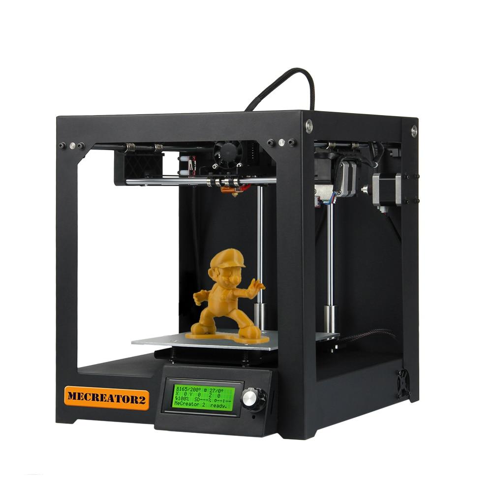 Geeetech 3D imprimante de bureau haute qualité MeCreator 2 bricolage Kit de Machine d'assemblage avec LED 110 V/220 V en option