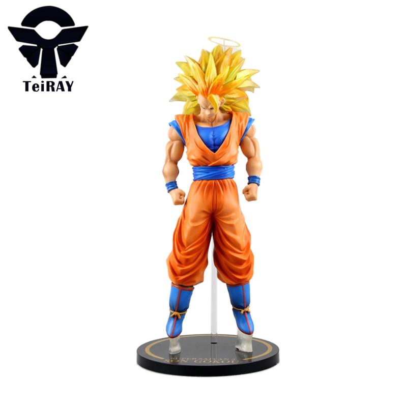 ФОТО Dragon Ball Z Super Saiyan Goku Figma 30cm Japan Big Size Pvc Anime Figures Jouet Kids Hot Toys for Children Boys Birthday Gift