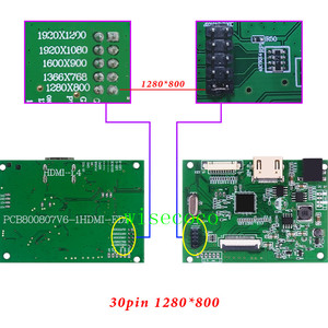 Image 5 - EDP Lcd Controller 30pin Board universal support 1280*800 1920 *1200 1920 *1080 1600*900 1366 *768 Display for Raspberry Pi