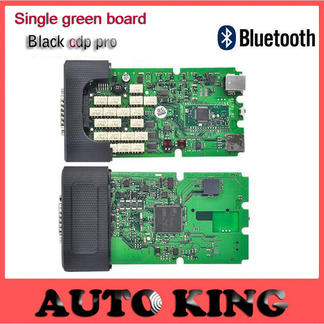 Super quality 2015.1 latest software single green board TCS pro plus with Bluetooth TCS Pro for cars trucks black Housing cover
