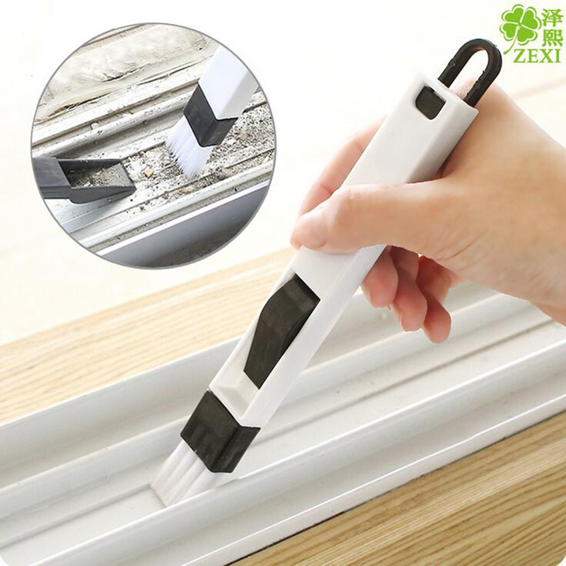 1Pcs Multipurpose Window Groove Cleaning Brush Dengan Dustpan Folding Brush Householding Keyboard Home Kitchen Cleaning Tools 8Z