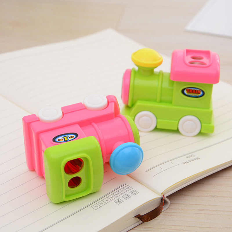 Korean stationery student puzzle assembly toy cute Thomas pencil sharpener multi-purpose penholder sharpener