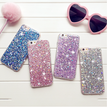 For IPhone 8 7 6 Plus XS Max XR Marble Shockproof Silicone Protective Case Cover Glitter Cute Matte Fitted Skin
