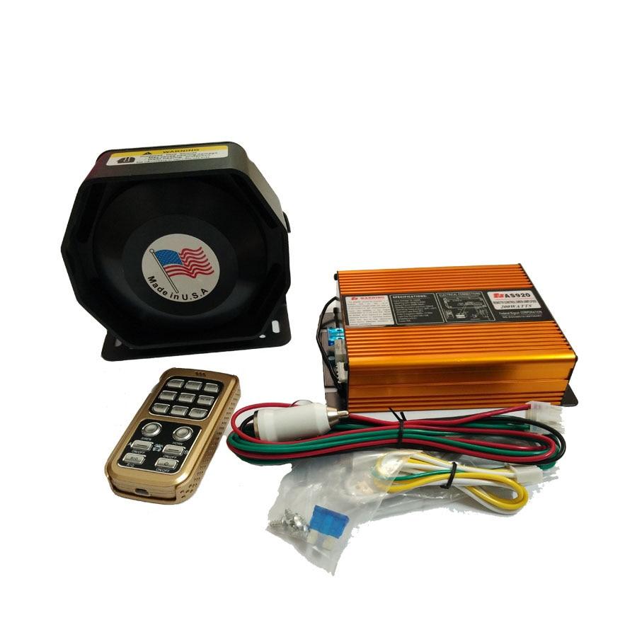 ФОТО 200W 12V Police Siren AS920 Gold Electrical Car Siren Alarm Siren+ Ultra Slim Speaker Wireless Remote Control Alarm Police Horn