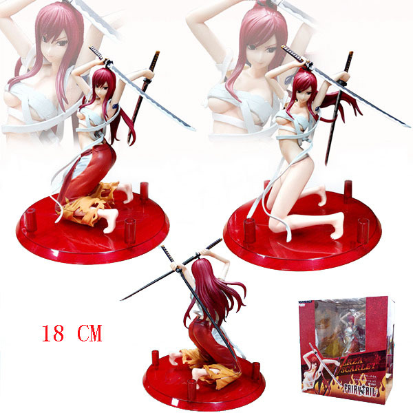 Sexy Fairy Tail Erza Toy Figure PVC Figures Scarlet Cast Off Version Boxed Animation Collection Model Toys Gift Free Shipping fairy tail 35