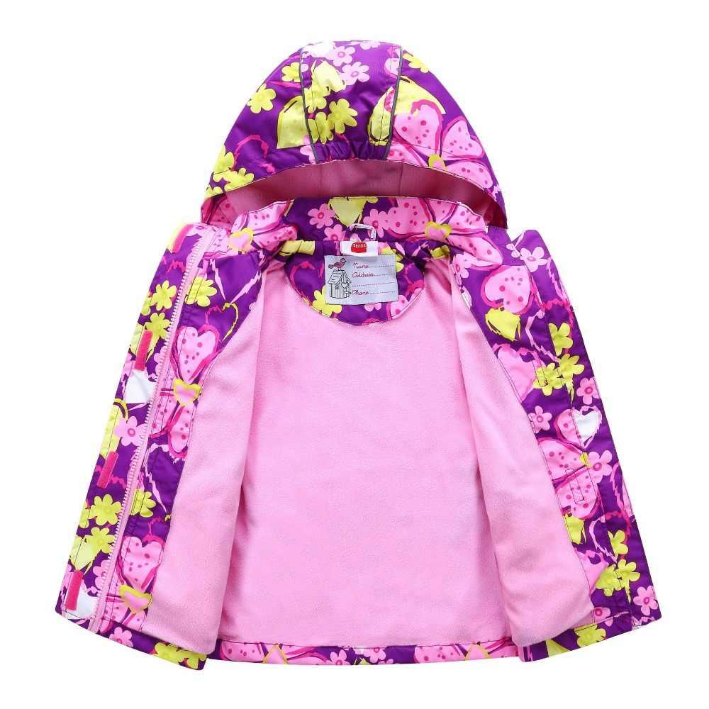 עמיד למים Windproof ילדי הלבשה עליונה תינוק בנות מעילי ילדי ילדי מעיל חם פליס עבור 3-12T חורף סתיו אביב