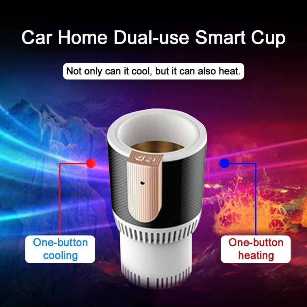 Portable taille voiture électrique support de verre Auto refroidissement chauffage refroidisseur plus chaud véhicule boisson bouteille tasse intelligente gobelet