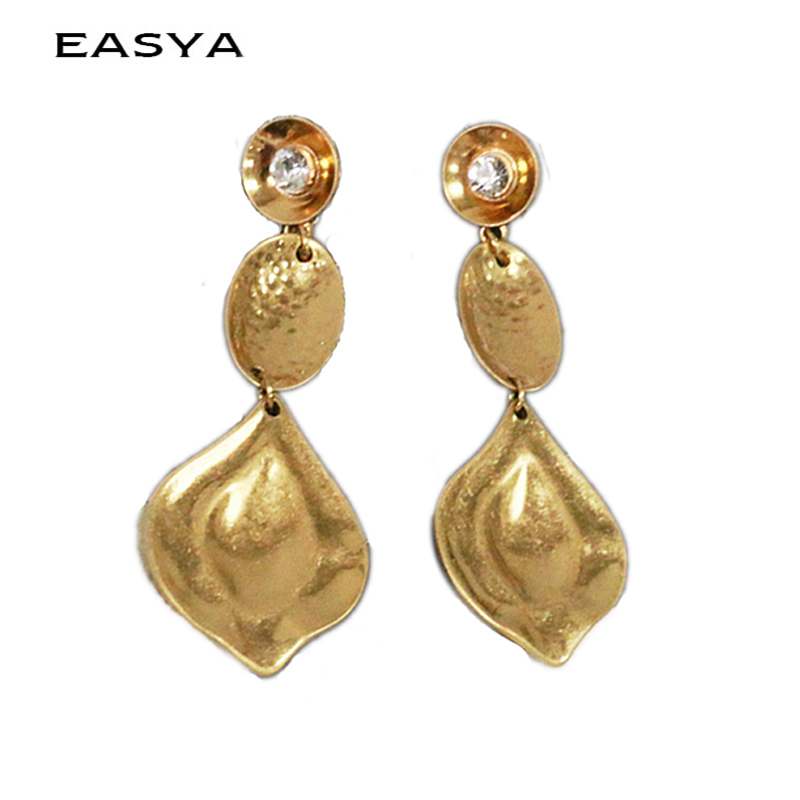 EASYA Zinc Alloy Irregular Chain & Water Drop Earrings Women Statement Dangel Earings Oorbellen Femmes Pendientes Mujer Moda