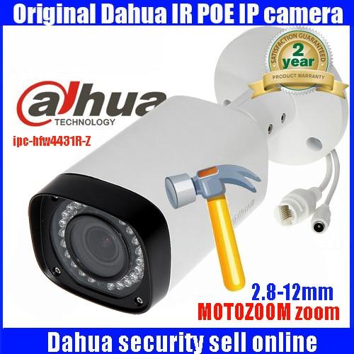 Dahua Poe varifocal motorized lens 2.8mm ~12mm camera IPC-HFW4431R-Z H.265 network CCTV camera 4MP IR 80M ip camera HFW4431R-Z dahua 4mp poe cctv camera ipc hfw4431r z 2 8 12mm varifocal motorized lens english firmware ir network ip bullet camera