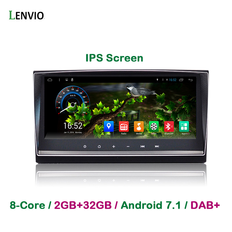 Lenvio RAM 2GB+32GB 8.8IPS Android 7.1 CAR Radio GPS Navigation For Toyota Avensis 2009 2010 2011 2012 2013 Car DVD player DAB+