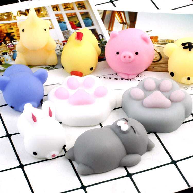 10pcs/set Mini Cat Animal Slow Rising Jumbo Lanyard Squishy Slow Rising Squishy Funny Anti Stress Antistress Fun Spielzeug