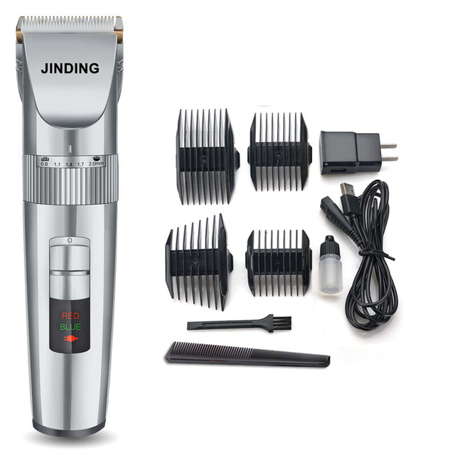 professional electric hair trimmer for barber salon ceramic rechargeable hair clipper beard. Black Bedroom Furniture Sets. Home Design Ideas
