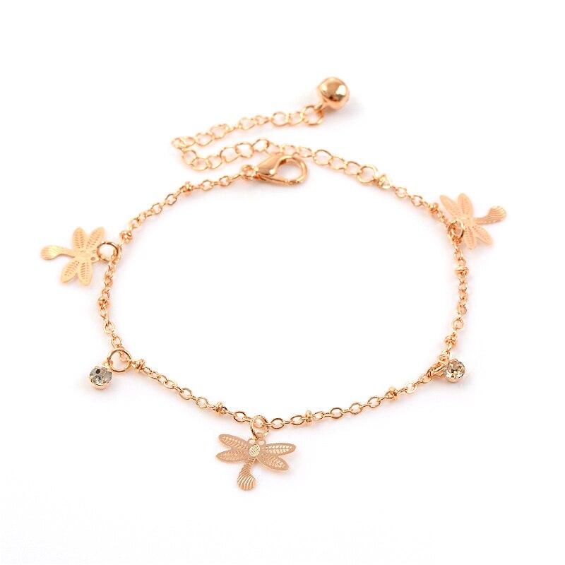 Gold Anklets for Women Gold Anklet Dragonfly Ankle Bracelet Gold Chain Dragonfly Anklet