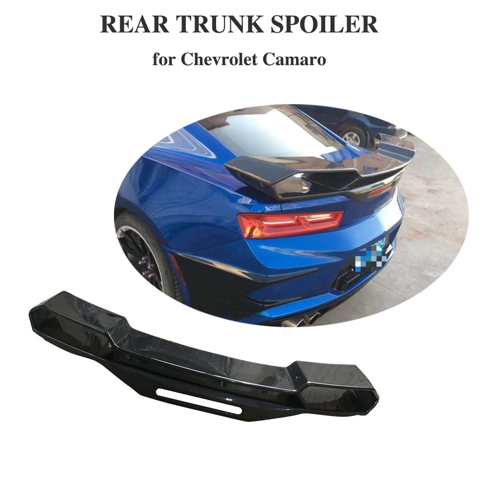 Onvermoeibaar Carbon Fiber Kofferbak Spoiler Grote Aangepaste Boot Lip Vleugel Voor Chevrolet Camaro Coupe 2016 2017 2018