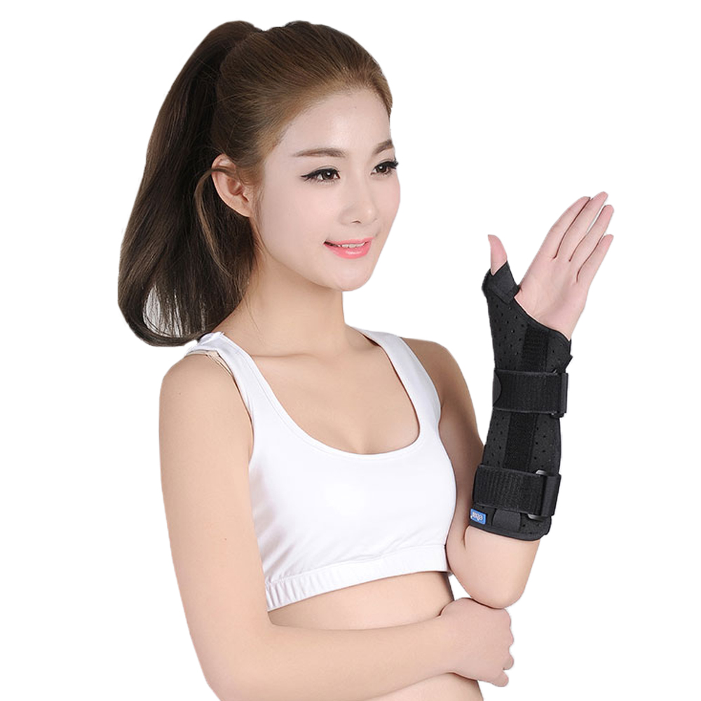 Wristbands Long Wrist Thumb Brace Support Stabilizer Brace 3 Aluminum Splint Inside Scaphoid Fracture sport cotton wrist brace wrap support black