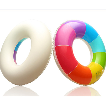 New Rainbow Inflatable Swimming Ring Swim Float Summer Beach Water Fun Pool Toys For Adults Children Kids 2