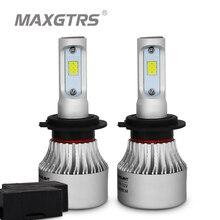 2x H1 H3 H4 H7 H8 H11 9005 9006 HB3 HB4 9012 H16 880 881 Car Headlight Light Canbus 8000Lm CSP COB Led Bulb Auto Headlamp