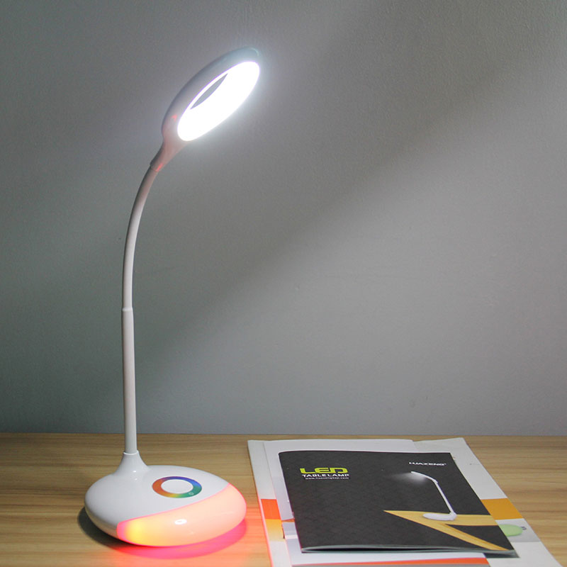 Rechargeable LED Table Lamp Touch Sensor Eye protection Lamp For Kids gift RGB Changeable color ring