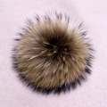 Genuine Real Raccoon Fur Pompom Fur Pom Poms Ball for Hats & Caps Big Natural Fur Pompon Ball For Shoes Hats Bags Accessories