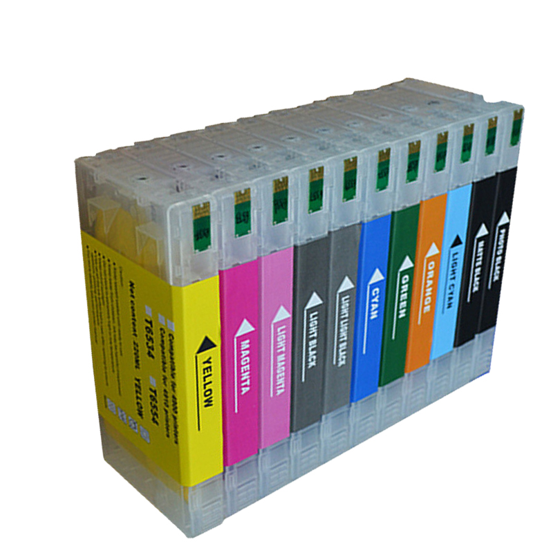 einkshop T6531 - T6539 T653A T653B Refillable Ink Cartridge For Epson Stylus Pro 4900 Printer With ARC Chip new compatible for epson t6531 t6539 t653a t653b refillable ink cartridge for epson stylus pro 4900 with arc chips