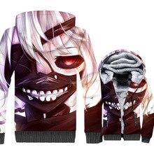 Tokyo Ghoul Mens Jacket 2019 Funny Anime Winter Jackets Hip Hop Sweatshirt Japan Hoodies Male Streetwear Tracksuit Coats