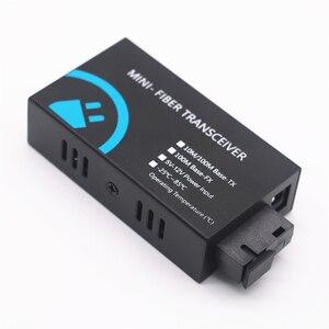 Image 4 - MINI konwerter światłowodowy 2 RJ45 do 1 SC złącze 10/100Mbps z włókna optyczny media konwerter tryb pojedynczy Duplex Wavelenth 1310nm 20km