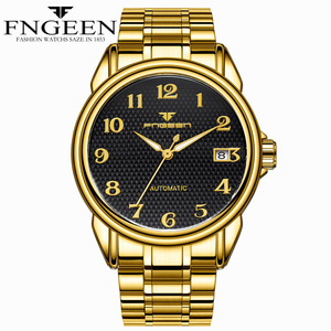 Image 5 - Relogio Masculino Luminous FNGEEN Mens Skeleton Watches Steampunk Fashion Automatic Skeleton Mechanical Wrist Watches Male Clock