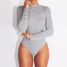 Fashion Sexy Women Long Sleeve O Neck Stretch Bodysuit Lady Leotard Body Tops Eu