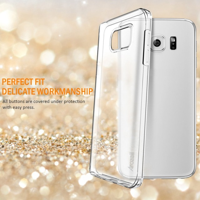 For Galaxy Note 5 Clear Case Arozell Newest Dotted Soft TPU Back Cover Shock Proof Scratch resistant  Caso Hot Sale