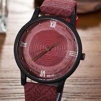 Top Brand Designer Women Men Wood Watch Wood Grain Texture Quartz Watches For Men Japan Movement