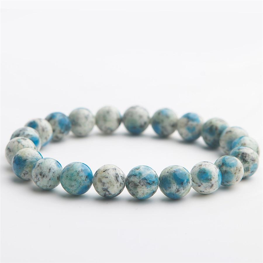9mm Natural K2 Jasper Volcanic Jasper Gemstone Bracelets For Women Female Stretch Crystal Round Bead Bracelet (3)