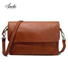 Amelie galanti Для женщин сумки на плечо из искусственной кожи роскошные женские сумки мода давно ремни небольшой Browm женские сумка